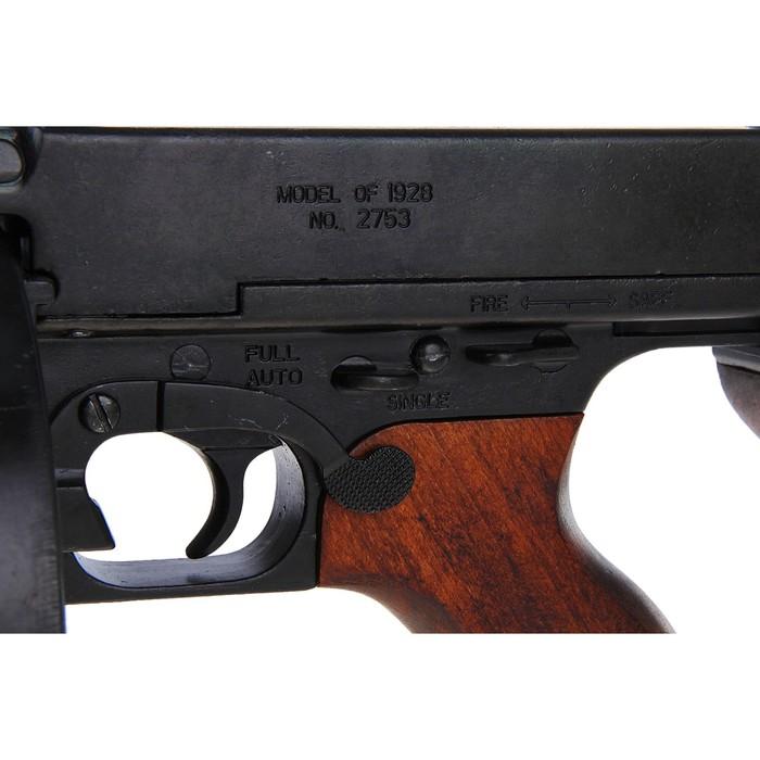 Макет пистолет-пулемета Томпсон, 45 мм, Америка 1928 г., Tommy-Gun