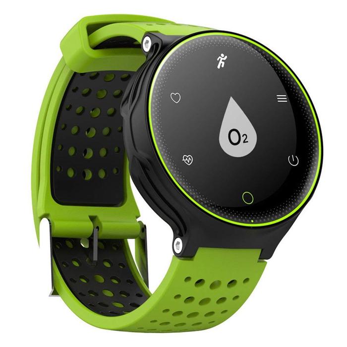 "Смарт-часы Prolike PLSW1000, дисплей 0.96"", чёрно-зелёные"