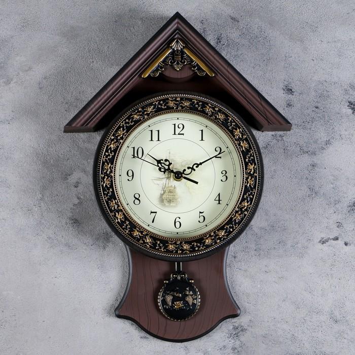 """Часы настенные, серия: Маятник, """"Элея"""", 29х40 см"""