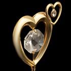 Сувенир «Сердце», 5,5х4х3 см, с кристаллами Сваровски - Фото 3