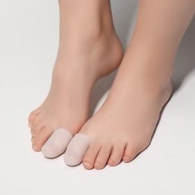 Напальчники для ног, силиконовые, пара, цвет белый Ош