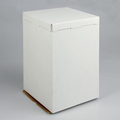 Кондитерская упаковка, короб белый, без окна, 30 х 30 х 45 см - Фото 1