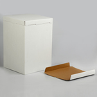 Кондитерская упаковка, короб белый, без окна, 30 х 30 х 45 см - Фото 2
