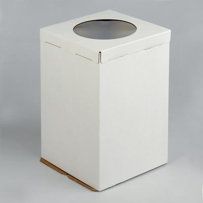 Кондитерская упаковка для тортов, короб белый 30 х 30 х 45 см - Фото 1