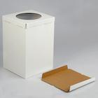 Кондитерская упаковка для тортов, короб белый 30 х 30 х 45 см - Фото 2
