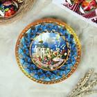 "Тарелка конфетница ""Христос Воскресе"", 19,5×19,5см - Фото 1"