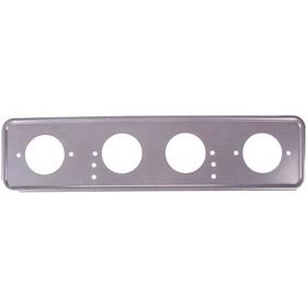Рамка для автомобильного номера Skyway, металлическая под болт, серебро Ош