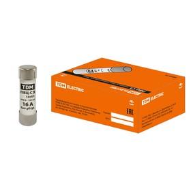Плавкая вставка TDM ПВЦ-С3, 16 А, 14х51 мм  , SQ0729-0016 Ош