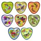 Прихватка-сердце «Бабочки», размер 17 ? 17 см, цвет микс