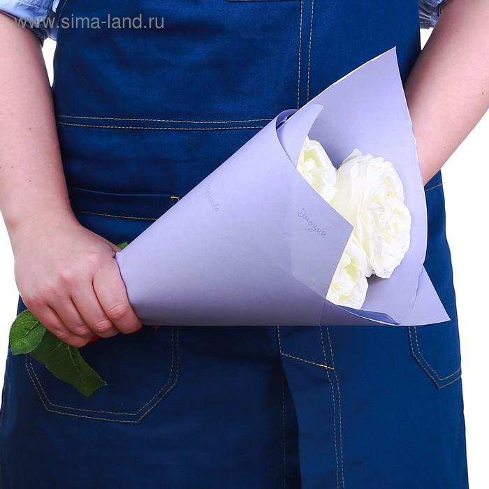 Бумага крафт цветная двусторонняя пантон «Нежная лаванда», 50 х 70 см