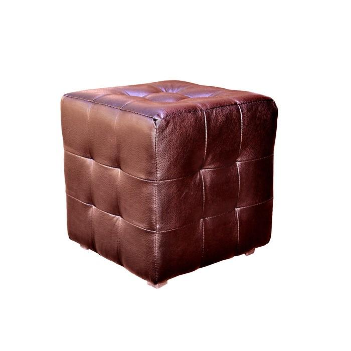 Пуф «Куб» коричневый