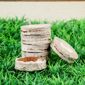 Таблетки кокосовые, в оболочке, d = 3,8 см, набор 6 шт. Ош