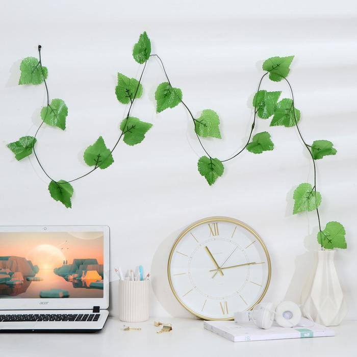 Лиана лист березы 2,2м цена за 1шт(в упаковке 12шт)