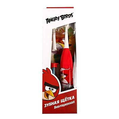 Электрическая зубная щётка Longa Vita Angry Birds SGA-1, вибрационная, от 3-х лет, красная