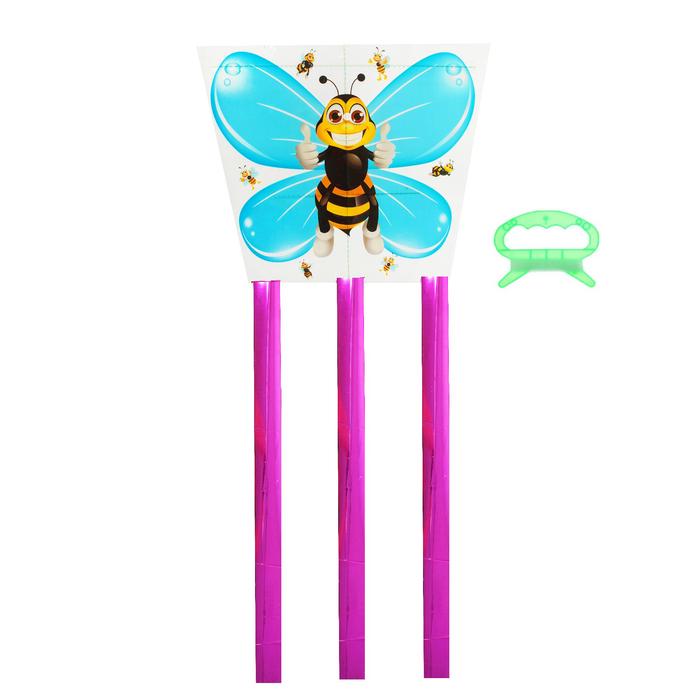 Воздушный змей Пчёлка, с леской
