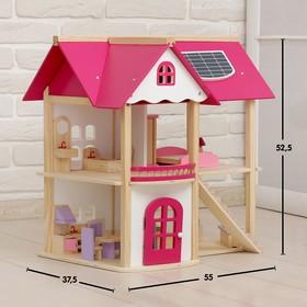 Кукольный домик 'Розовое волшебство', с мебелью Ош