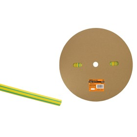 Трубка термоусаживаемая TDM ТУТнг 6/3, желто-зеленая, 100 м, SQ0518-0003 Ош