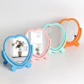 Зеркало настольное, с рамкой под фотографию, двустороннее, зеркальная поверхность — 12,7 × 13 см, МИКС Ош