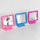 Зеркало складное-подвесное, с рамкой под фотографию, зеркальная поверхность 11 ? 9 см, МИКС