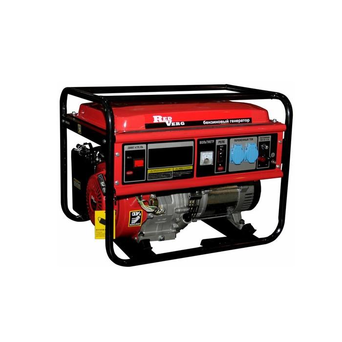Генератор бензиновый RedVerg RD-G 8000ENA, 6/6.5 кВт, 25л, розетки 2 16А, ручной/эл. старт