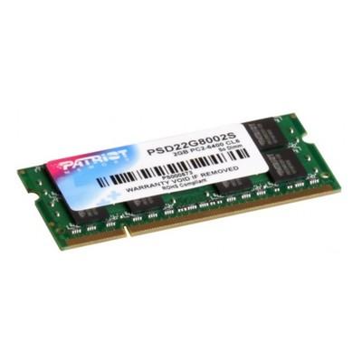 Память DDR2 2Gb 800MHz Patriot PSD22G8002S RTL PC2-6400 CL6 SO-DIMM 204-pin 1.8В