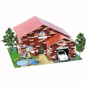 Конструктор из кирпичиков «Дом с бассейном», 870 деталей