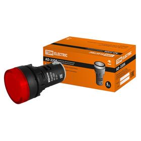 Лампа TDM AD-22DS(LED)матрица, d=22 мм, красный, 24 В, AC/DC, SQ0702-0006 Ош