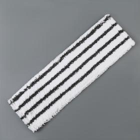 Насадка для плоской швабры, 40×10 см, микрофибра, цвет МИКС