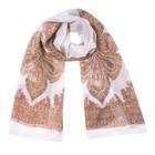 Шарф текстильный, цвет белый, размер 50х160