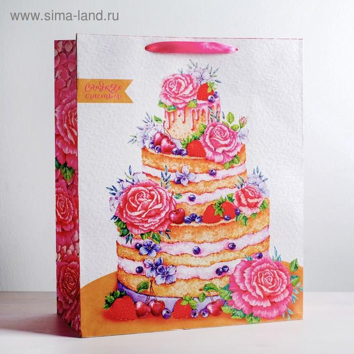 Пакет ламинированный «Сладкого счастья», XL 49 × 40 × 19 см