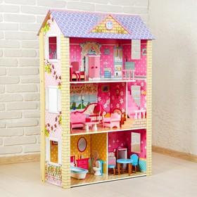 Кукольный дом «Цветочный рай», с мебелью Ош