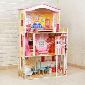 Кукольный дом «Яркий интерьер», с мебелью Ош