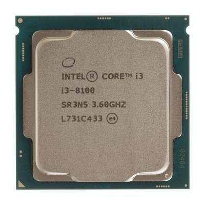 Процессор Intel Core i3 8100 Original, LGA1151v2, 4x3.6ГГц, UHD 630, TDP 65Вт, BOX