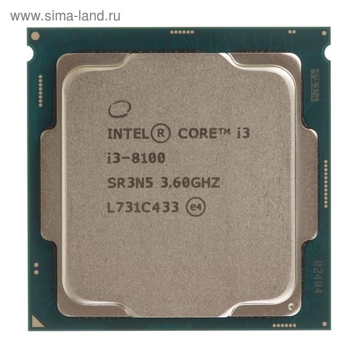 Процессор Intel Original Core i3 8100 Soc-1151v2, 3.6GHz/Intel UHD Graphics 630, Box