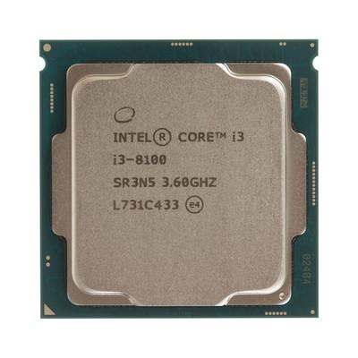 Процессор Intel Core i3 8100 Original, LGA1151v2, 4x3.6ГГц, UHD 630, TDP 65Вт, OEM
