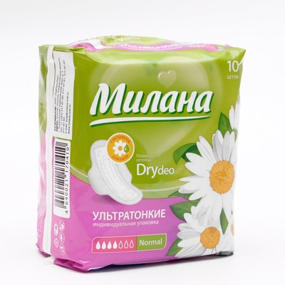 Прокладки «Милана» Ultra Dry Normal Deo Ромашка, 10 шт/уп