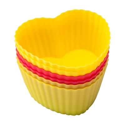 Форма для кекса Flex Mode сердце, 6 шт - Фото 1
