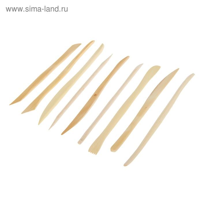 Набор деревянных стеков «Сонет», 9 штук, 15 см