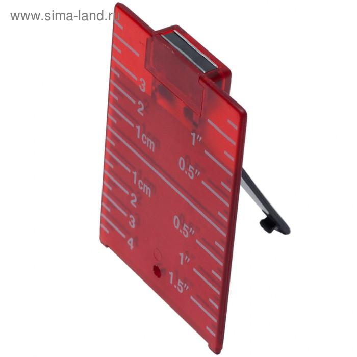 Мишень красная с встроенным магнитом ADA A00210, для работы с нивелиром