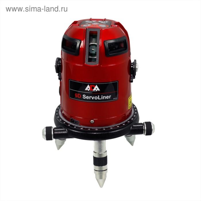 Нивелир лазерный ADA 6D Servoliner, 9 лучей, 50/10 м, ± 0.1 мм/м, кейс