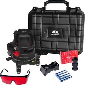 Нивелир лазерный ADA PROLiner 4V, 6 лучей, отвес, 70/20 м, ± 2 мм/10м, кейс