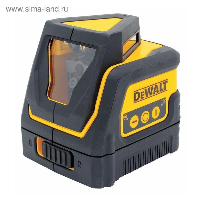 Нивелир лазерный DeWalt DW 0811, 2 луча (1 360°),  30 м, ±4°, 0.4 мм/м, кейс