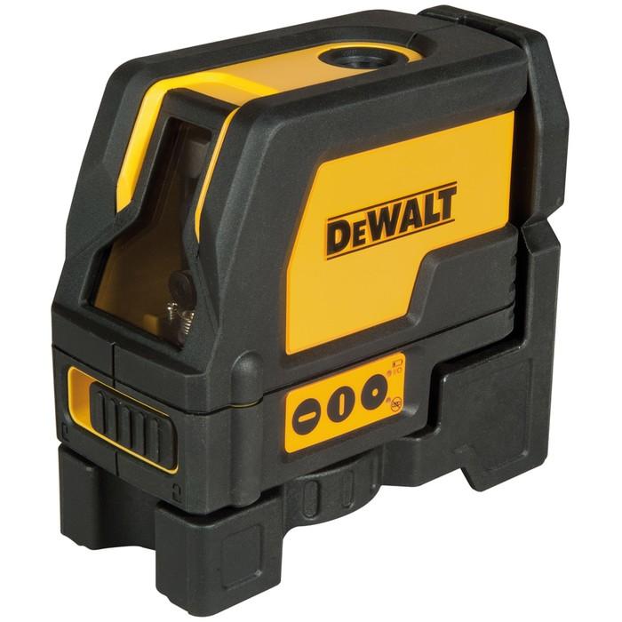 Нивелир лазерный DeWalt DW 0822, 2 луча, отвес, 50 м, ±4°, 0.2 мм/м, кейс