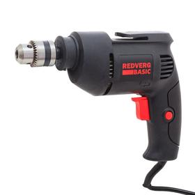 Дрель RedVerg D500 Basic, 500 Вт, 3000 об/мин, ЗВП 10мм, сверление сталь 10мм, дерево 20мм
