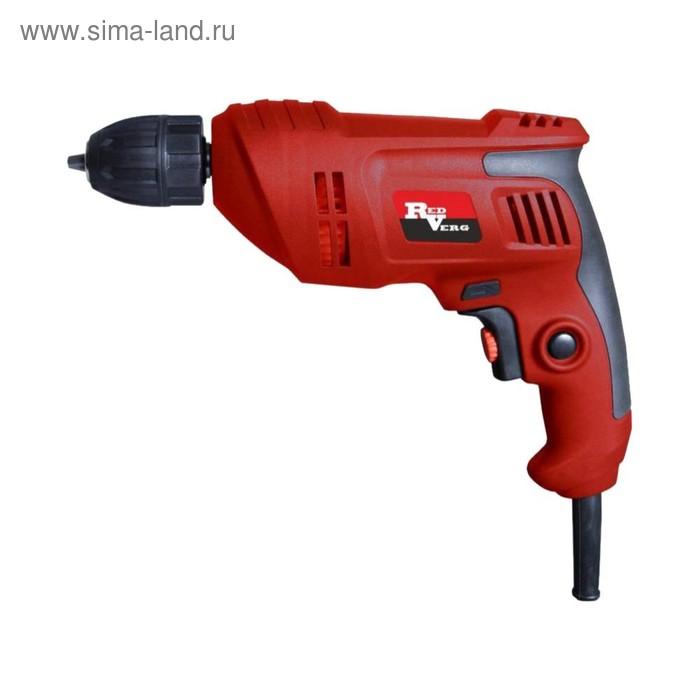 Дрель RedVerg RD-D540, 540 Вт, 2900 об/мин, БЗП 1.5-10 мм, сверление: сталь/дерево 10/22мм