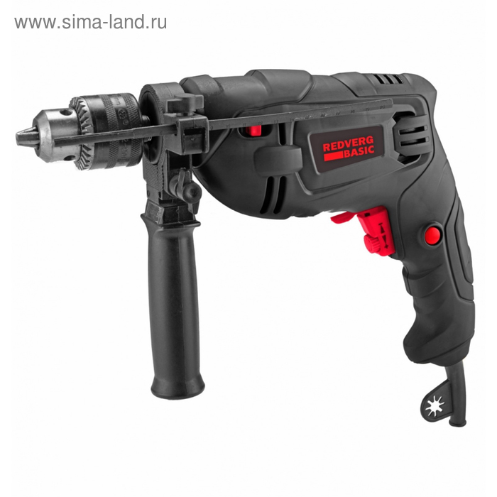 Дрель ударная RedVerg ID 500 Basic, 500 Вт, 2900 об/мин, ЗВП 13мм, дерево/металл 25/13 мм