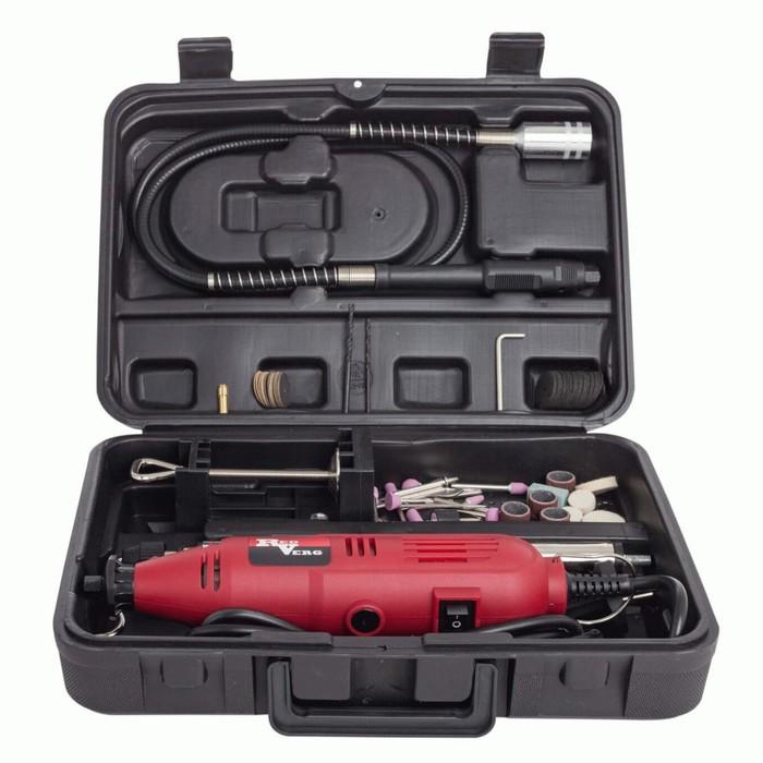 Гравер RedVerg RD-MG150 C, 150 Вт, 32000 об/мин, 2.3/3.2 мм. 100 насадок, кейс
