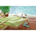 Полотенце пляжное пештемаль 100х180 см, цв салатовый, 280 г/м2,хлопок 100%