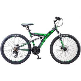 """Велосипед 26"""" Stels Focus MD, V010, цвет чёрный/зелёный, размер 18"""""""