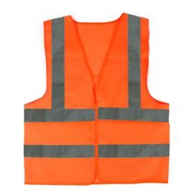 Жилет текстильный Ж4 , оранжевый, усиленный, XL Ош
